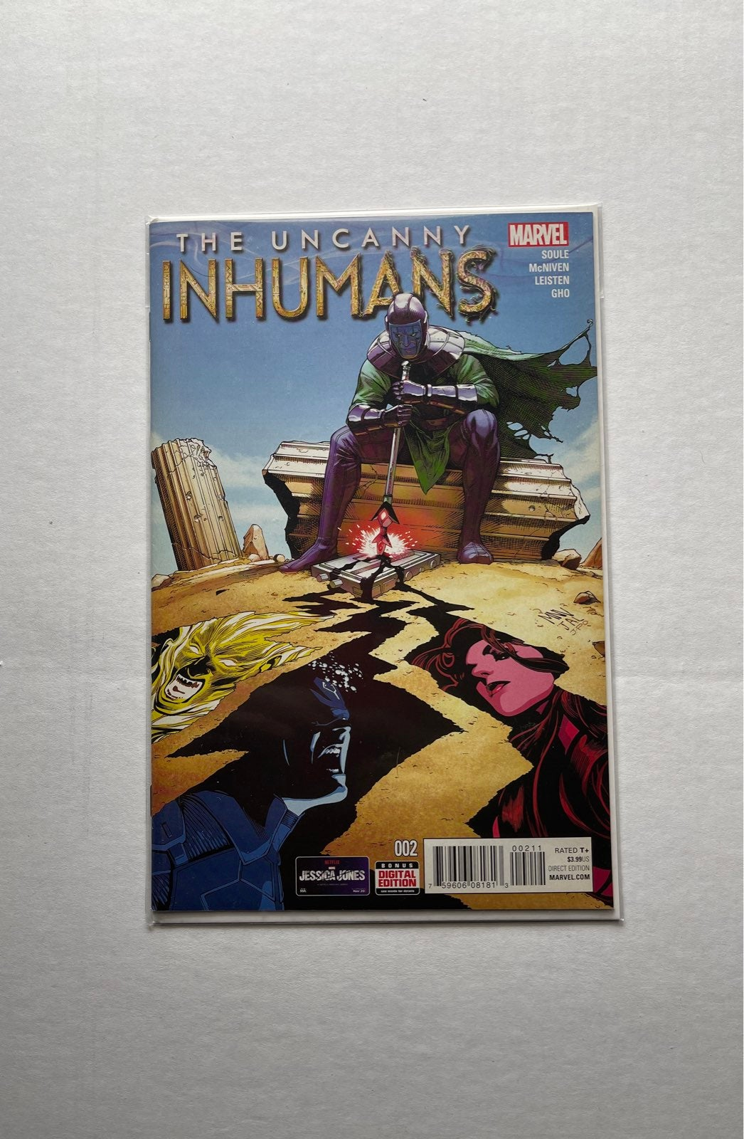 marvel uncanny inhumans #2 comic book