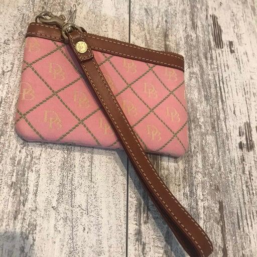 DOONEY & BOURKE Pink/Green Wristlet