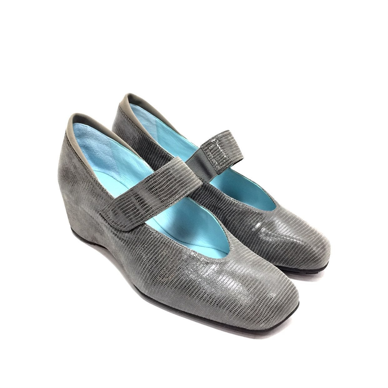 Thierry Rabotin Grey Nubuck Mary Janes