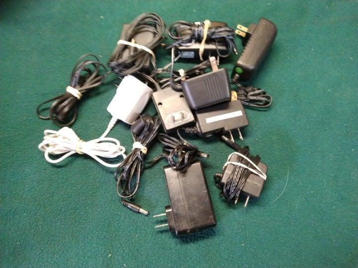 Lot Bundle of NINE 12v Power Adapters