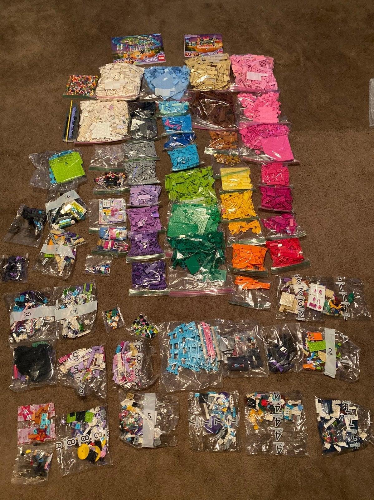 Massive 27LB Lot Of Color Assorted Lego!