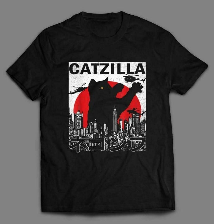 CATZILLA FUNNY CAT LOVER QUALITY SHIRT 3