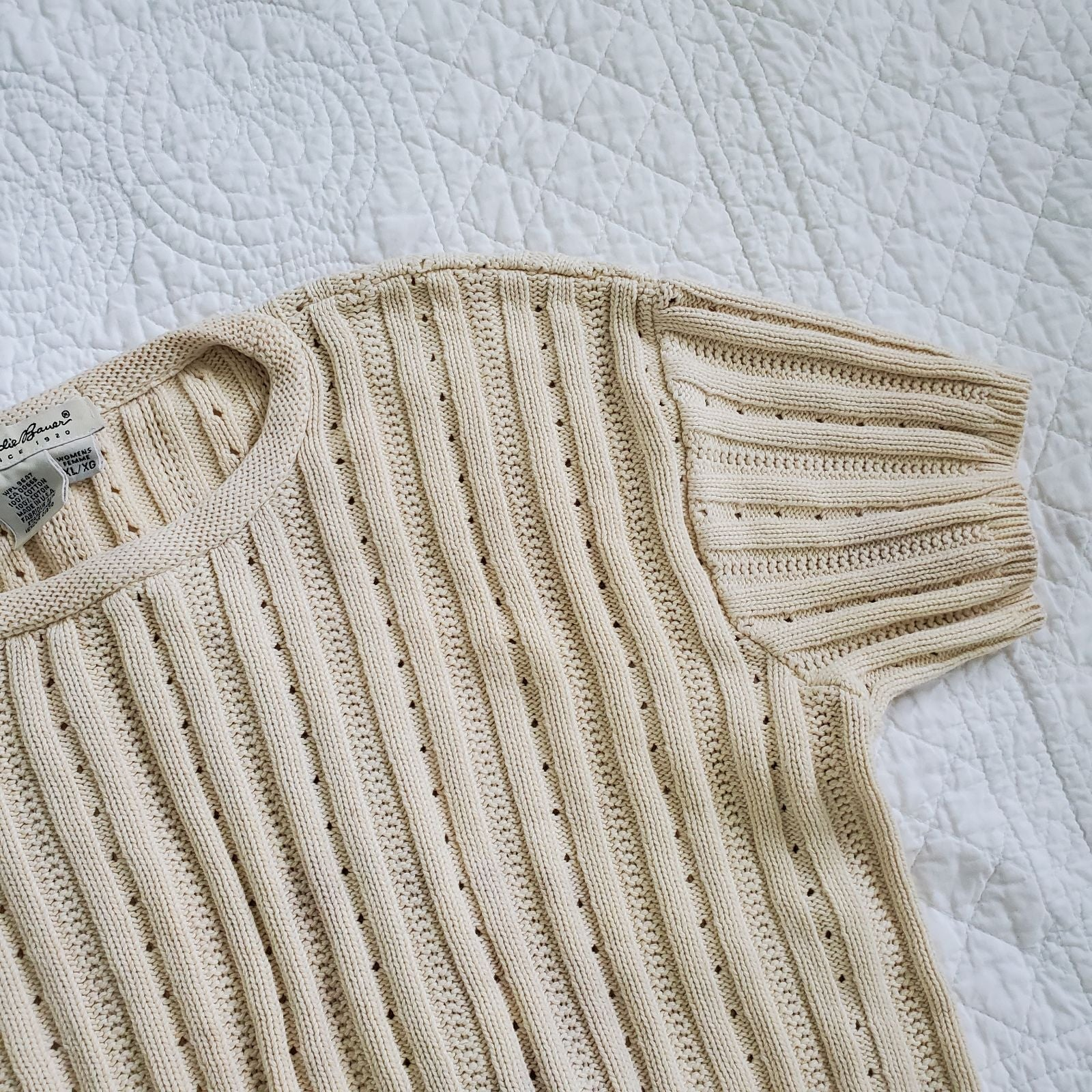 Vintage Eddie Bauer knit top short sleev