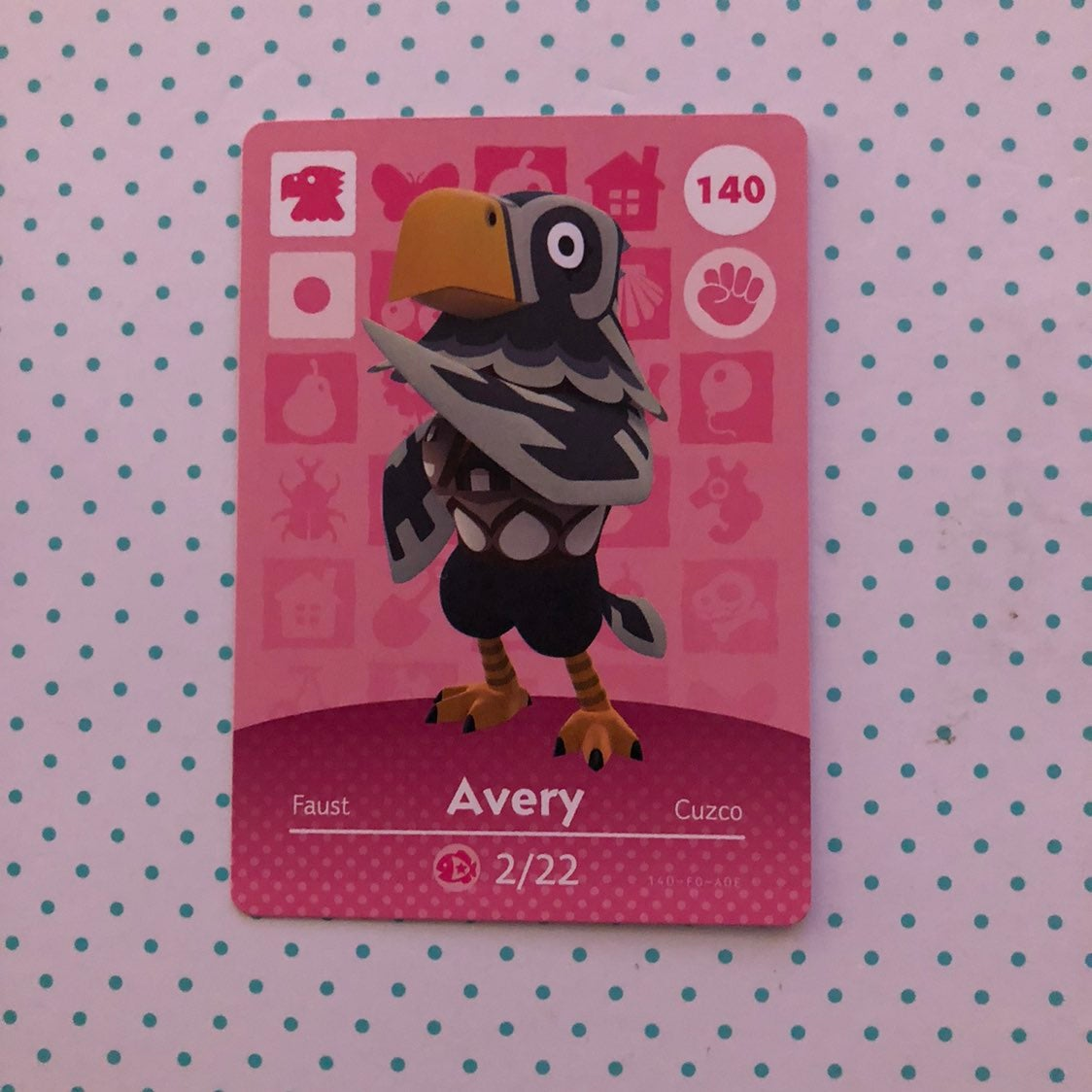 Animal Crossing Amiibo Card Avery