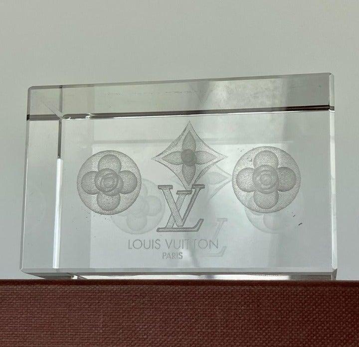 Louis Vuitton Crystal Fleur Paperweight