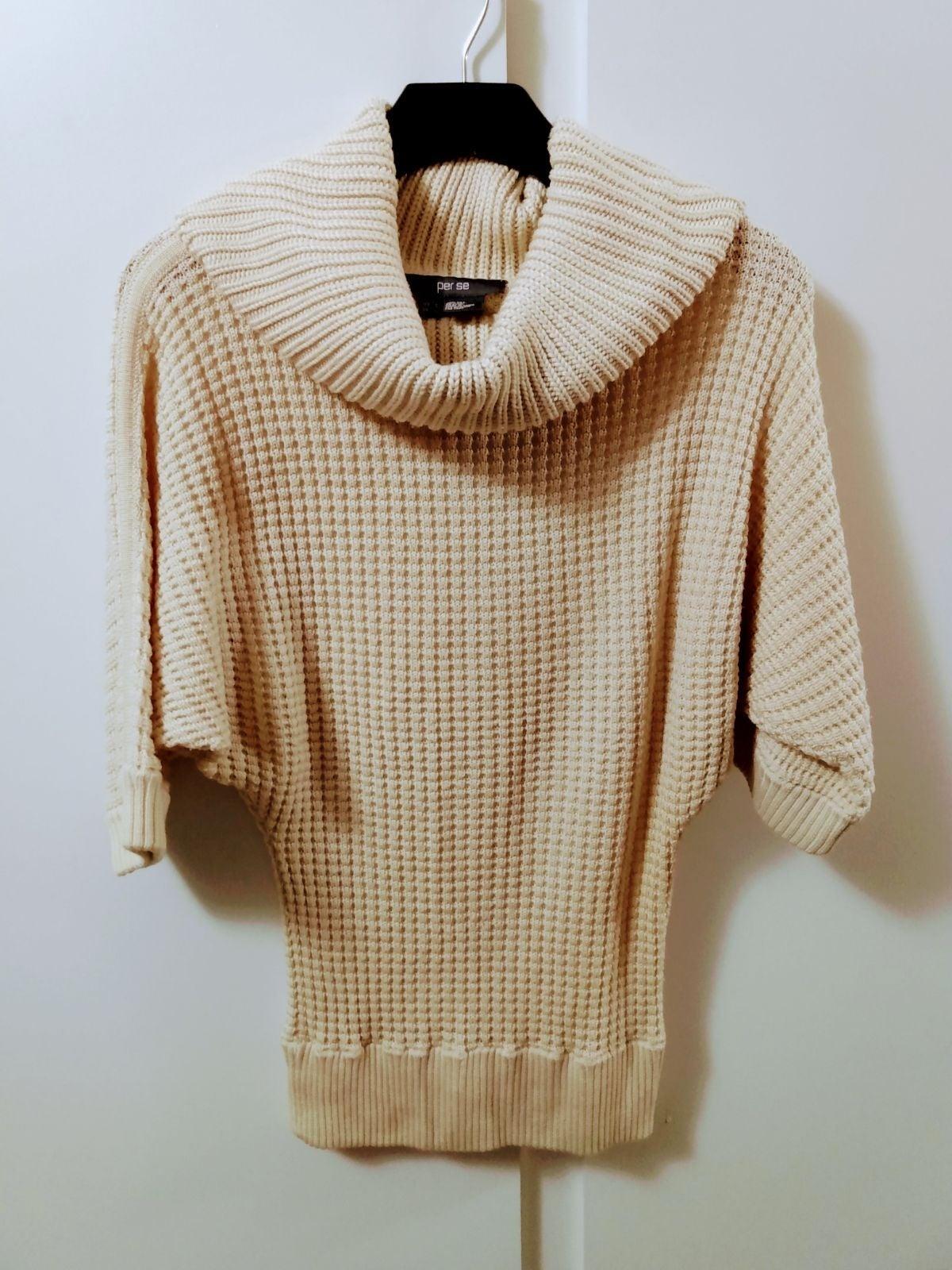 PER SE Knit Dolman Turtleneck Sweater