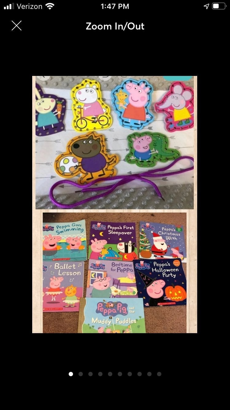 Peppa Pig Books & Lacing Cards