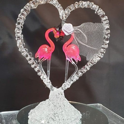 Blown Glass Flamingo Caketop