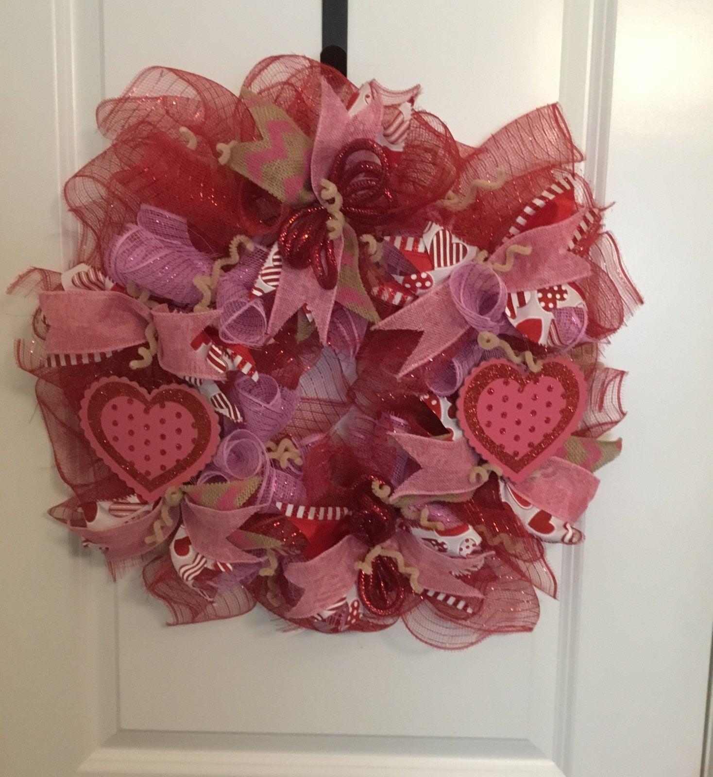 """Valentine's """"Heart"""" Wreath"""