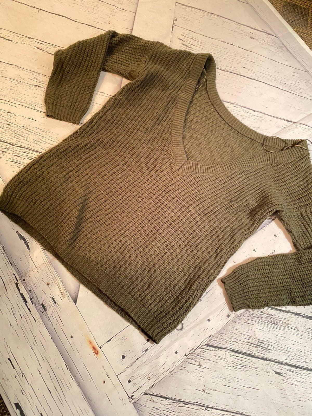 Wet seal deep v neck sweater