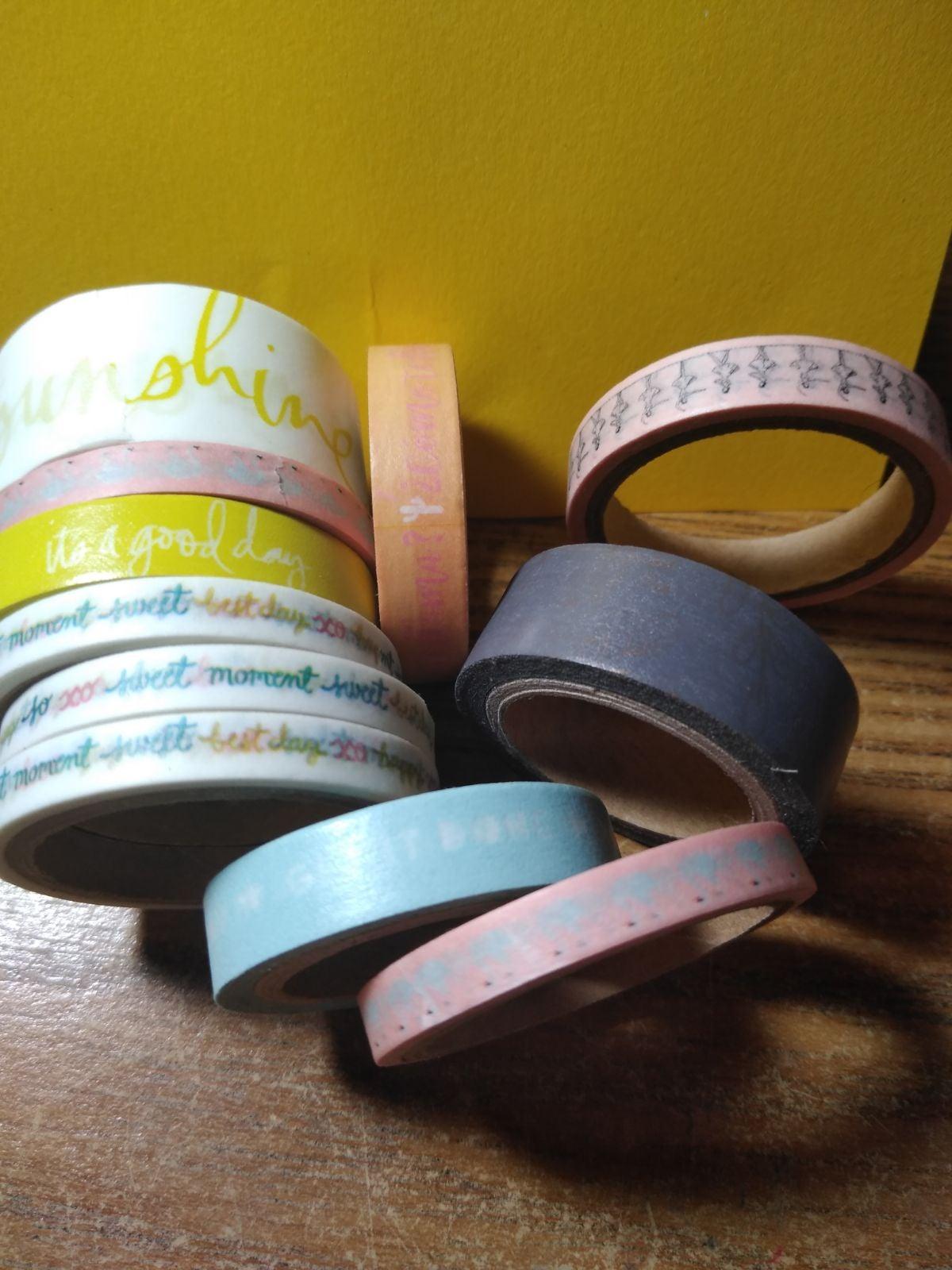 11 rolls of washi tape