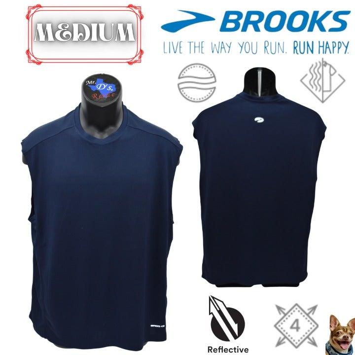 Brooks Medium Navy Blue Distance Tank