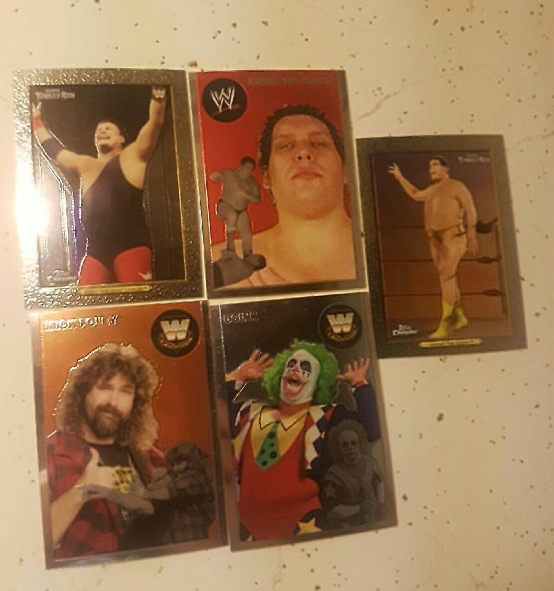wwe topps chrome cards lot