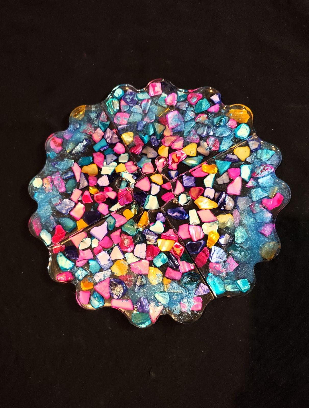 Resin Coaster Puzzle Set- Mosaic