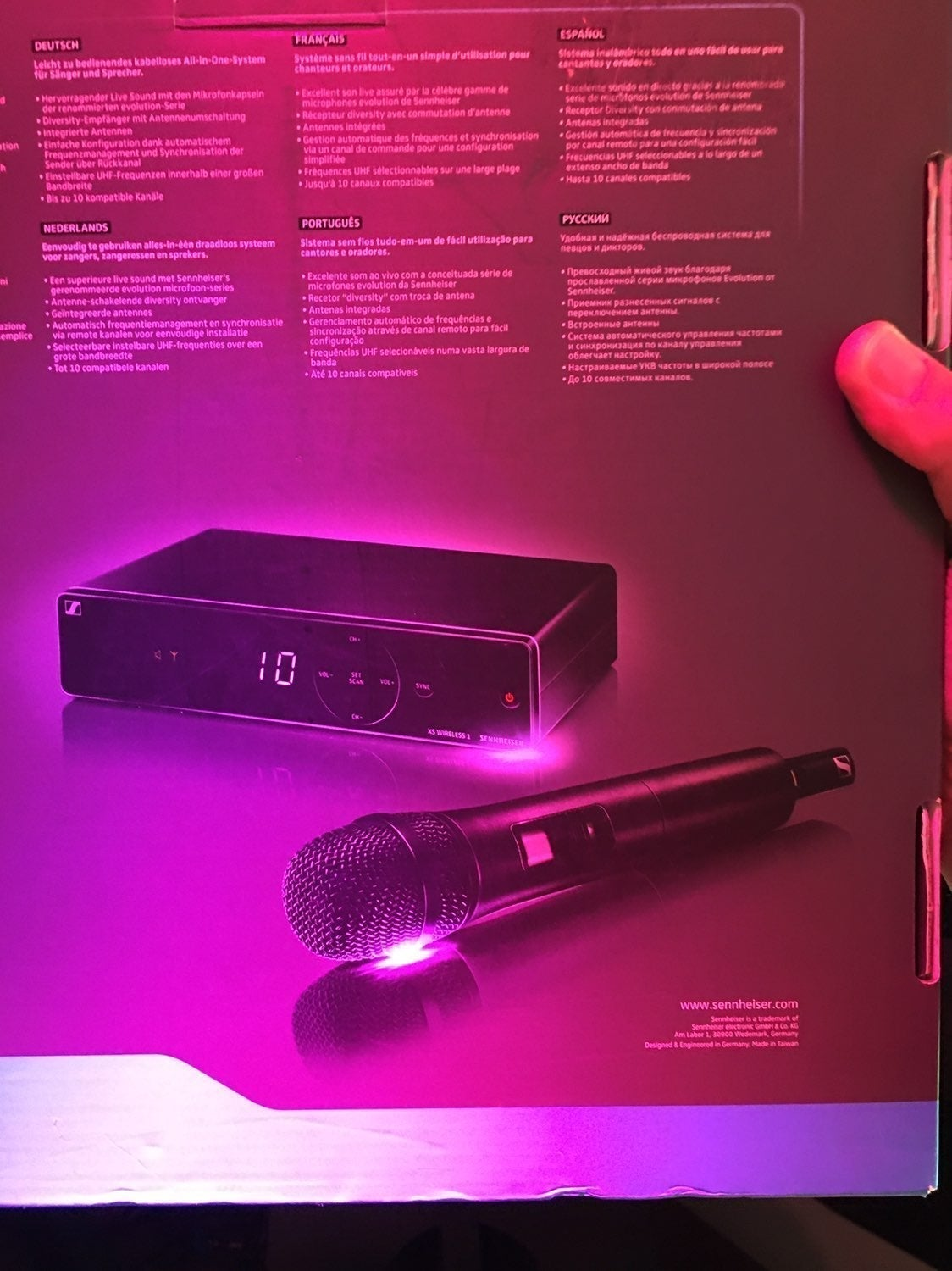 sennheiser XS Wireless 1 vocal set with