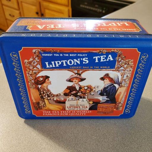 Vintage Lipton's Tea Metal Tin