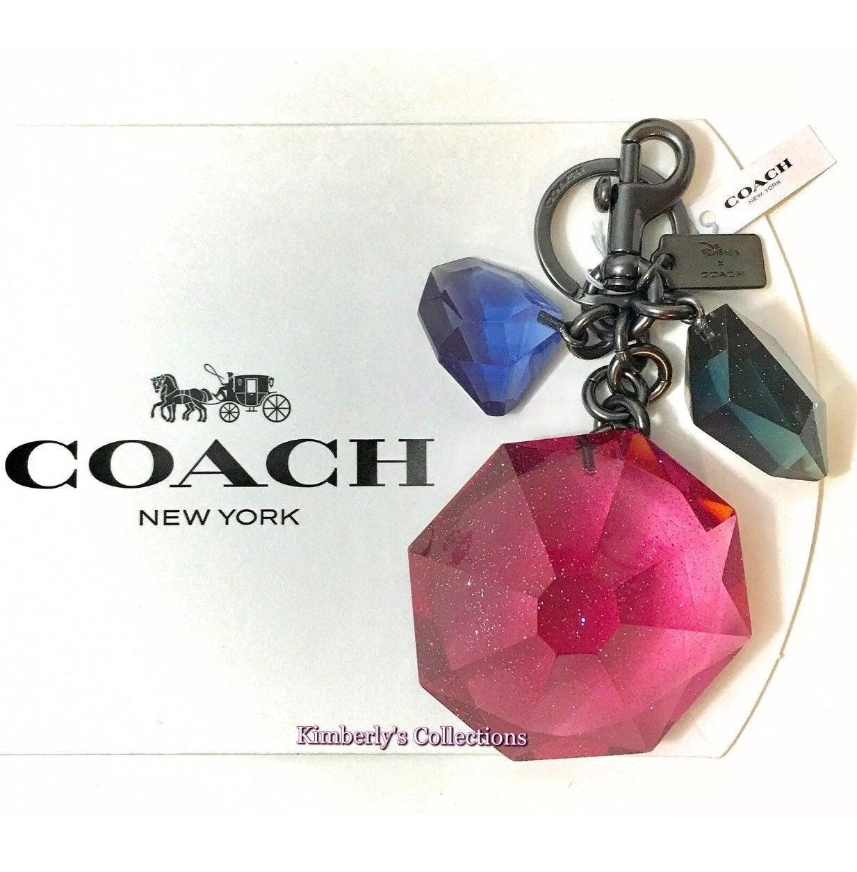 Coach Disney Gem Keychain Bag Charm NWT
