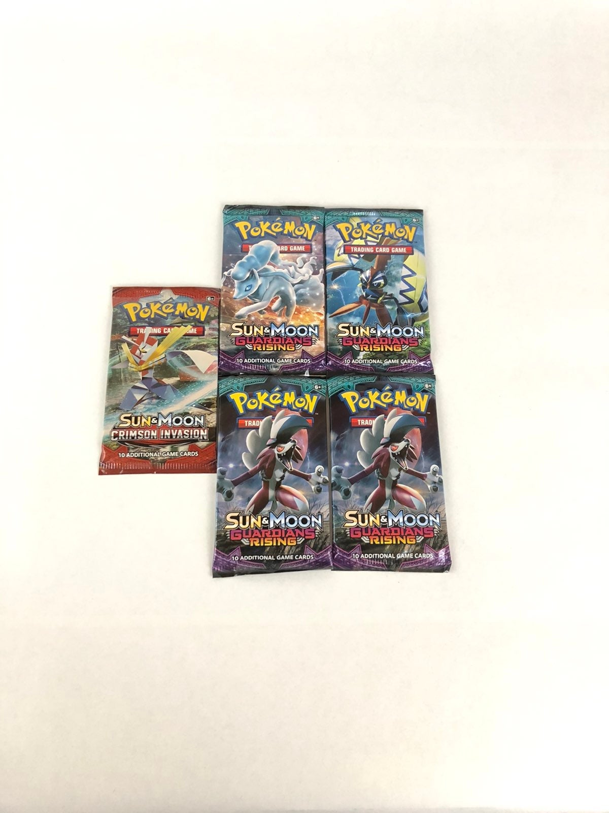 POKEMON 4x Sword And Shield Base BOOSTER PACK Art Set 1 of Each Pack Art