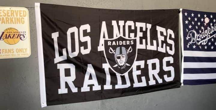 Los Angeles Raiders NFL 3ft x 5ft Flag