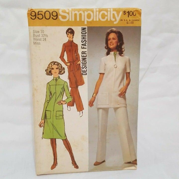 Misses Dress Tunic Pants Pattern 9509