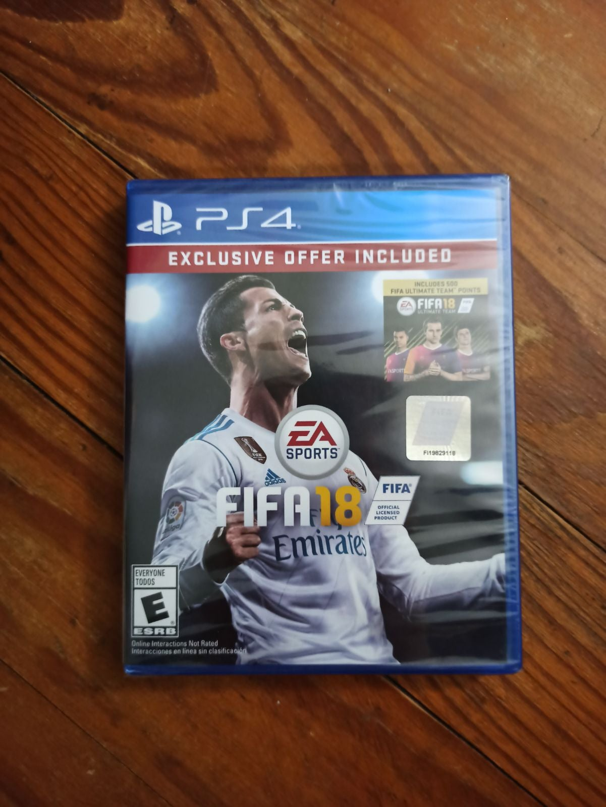 FIFA 18 soccer PS4 game