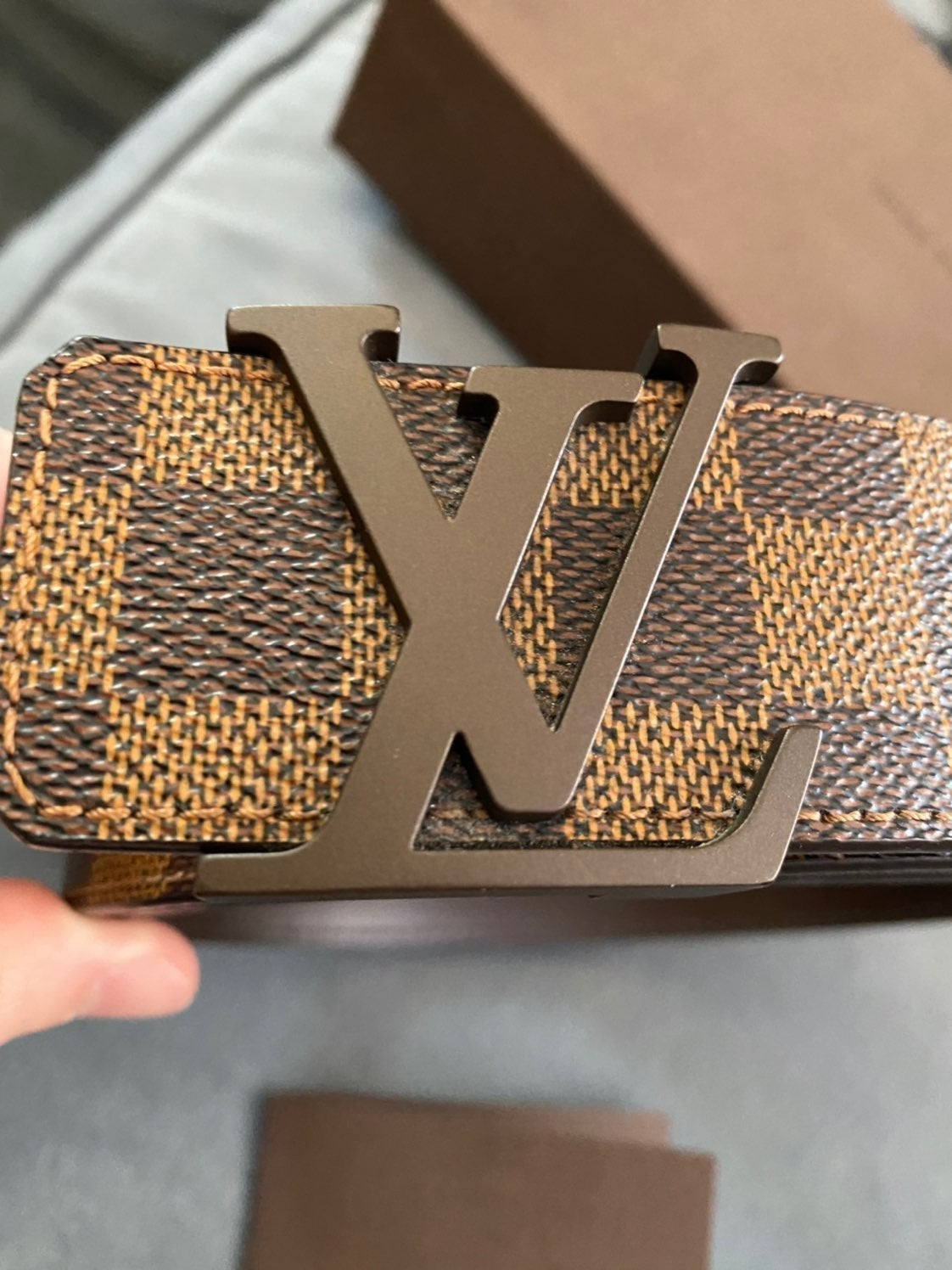 Louis Vuitton Brown Damier Belt