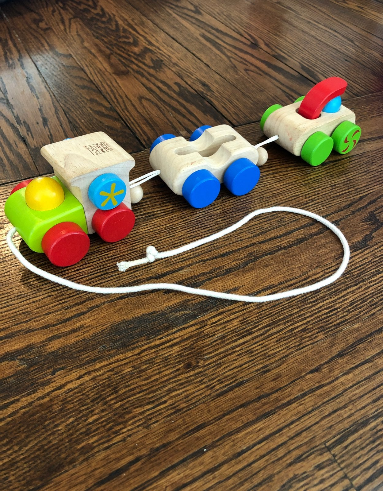 Plan Toys pull train toy