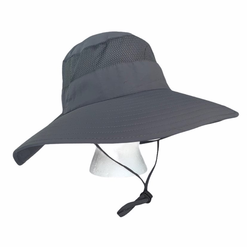 Outdoor sun protection hat gray