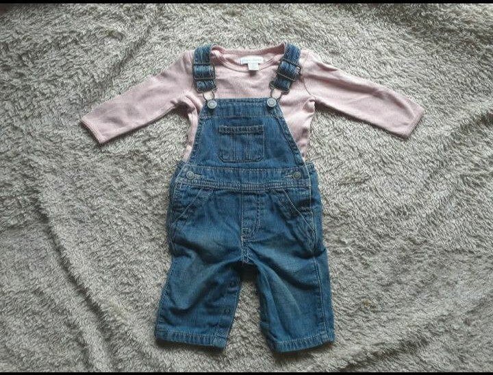 Pink Overall Baby Girl Outfit Bundle