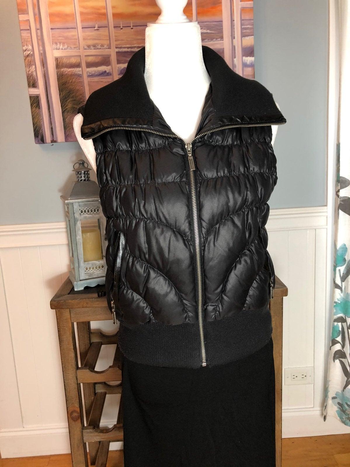 Express Black Down-filled Puffer Vest