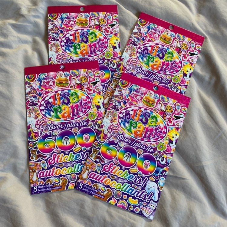 2400 lisa frank stickers rainbow 2000s