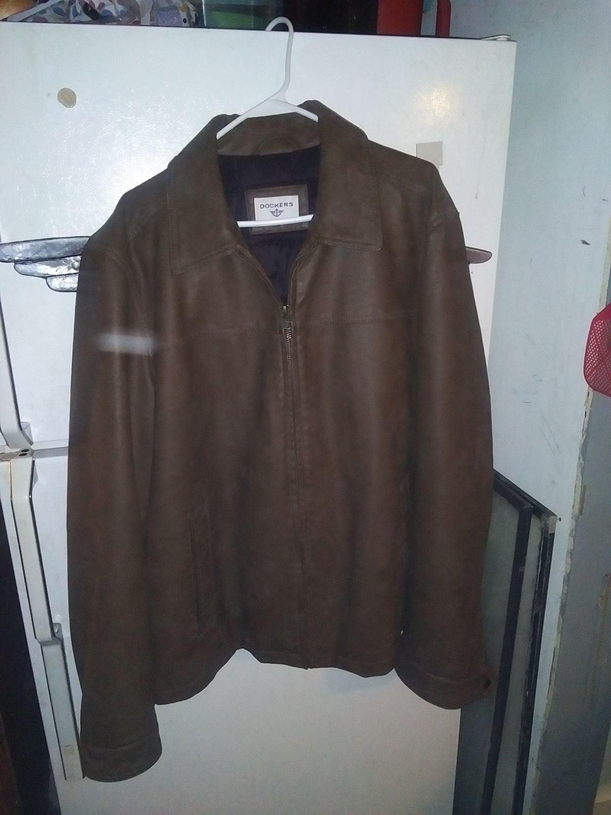 Dockers leather coat