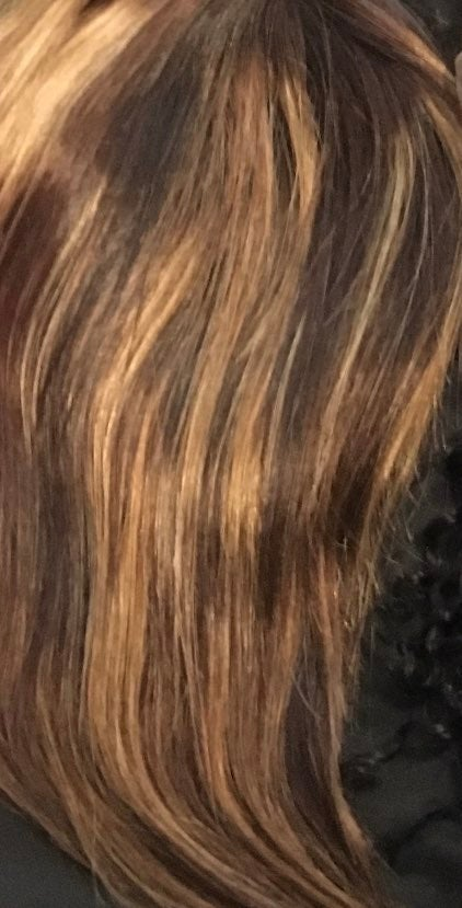10 inch ombre highlight lace front wig