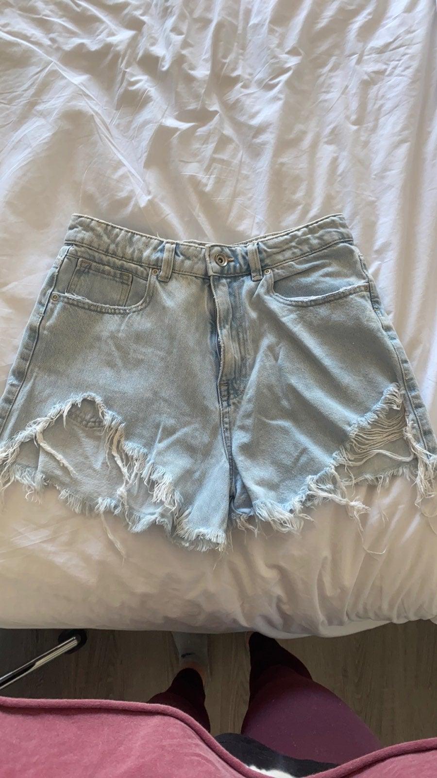 Zara high waist denim shorts