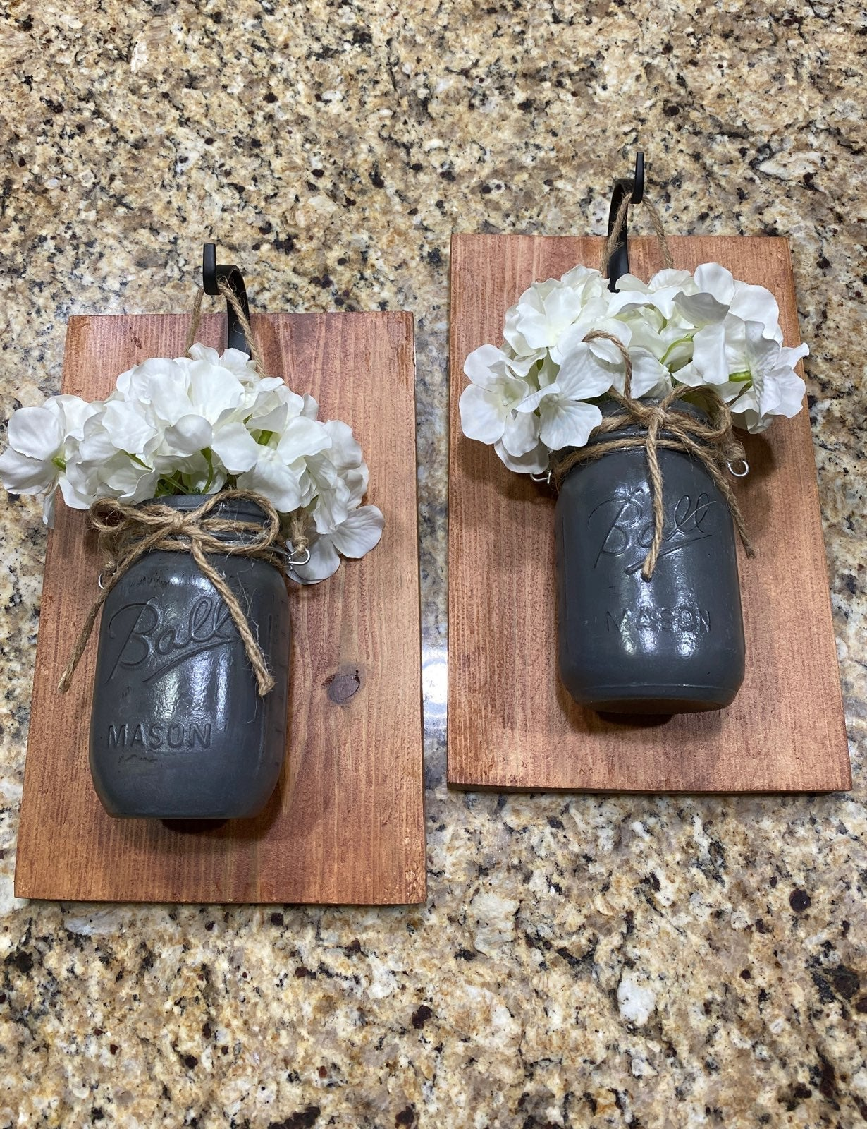 Mason jar wall hangings