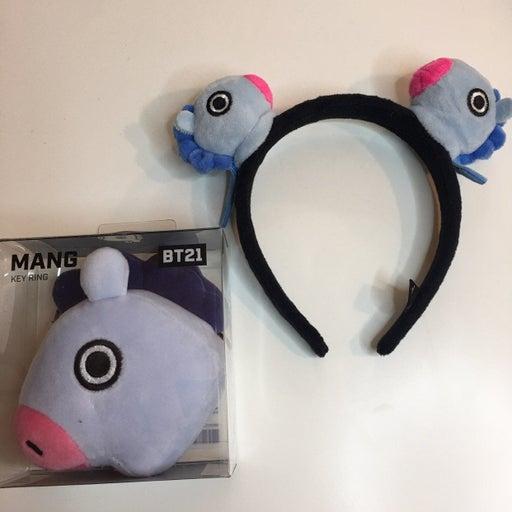 bt21 mang headband & keychain