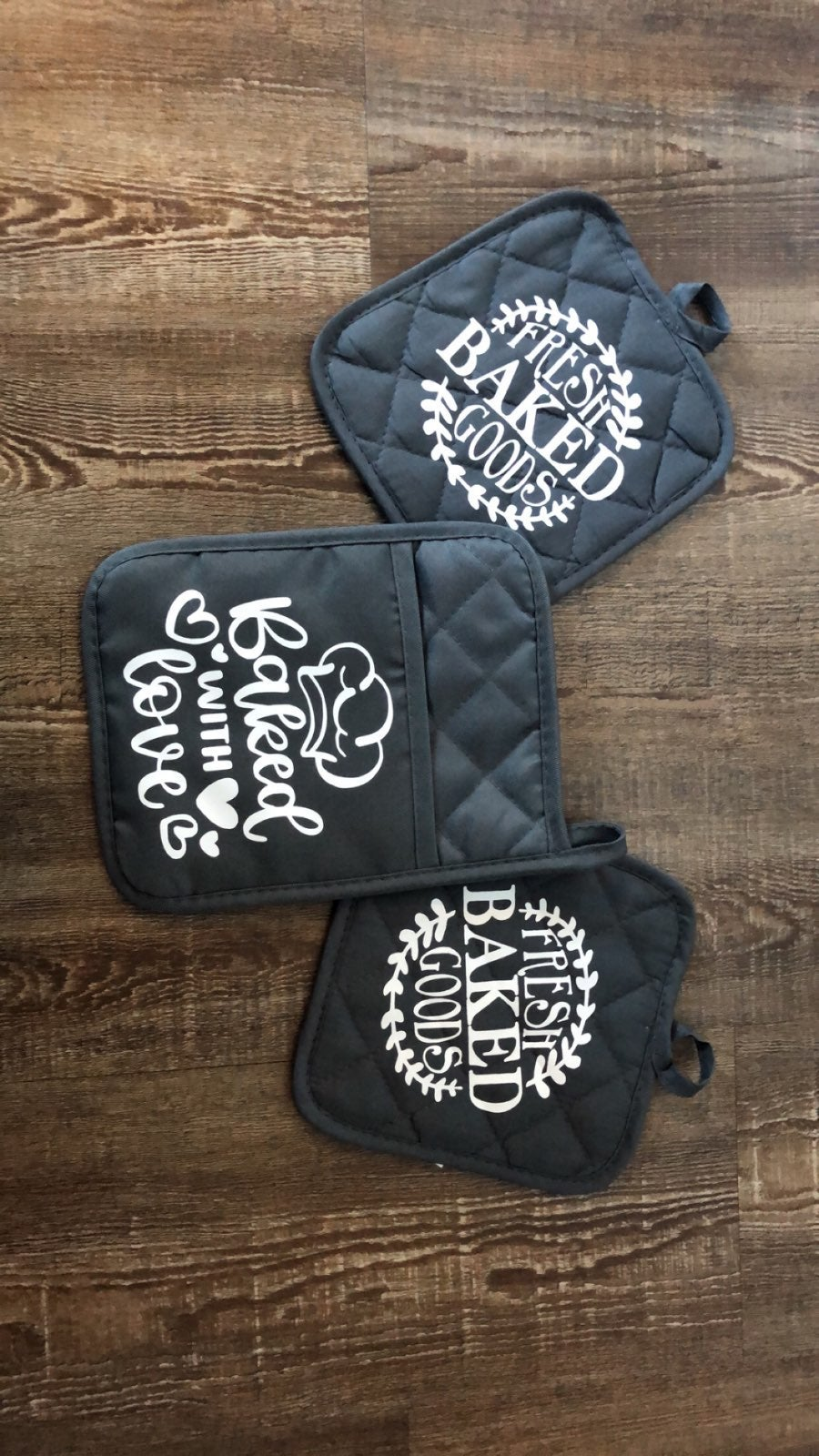 Homemade oven mitts