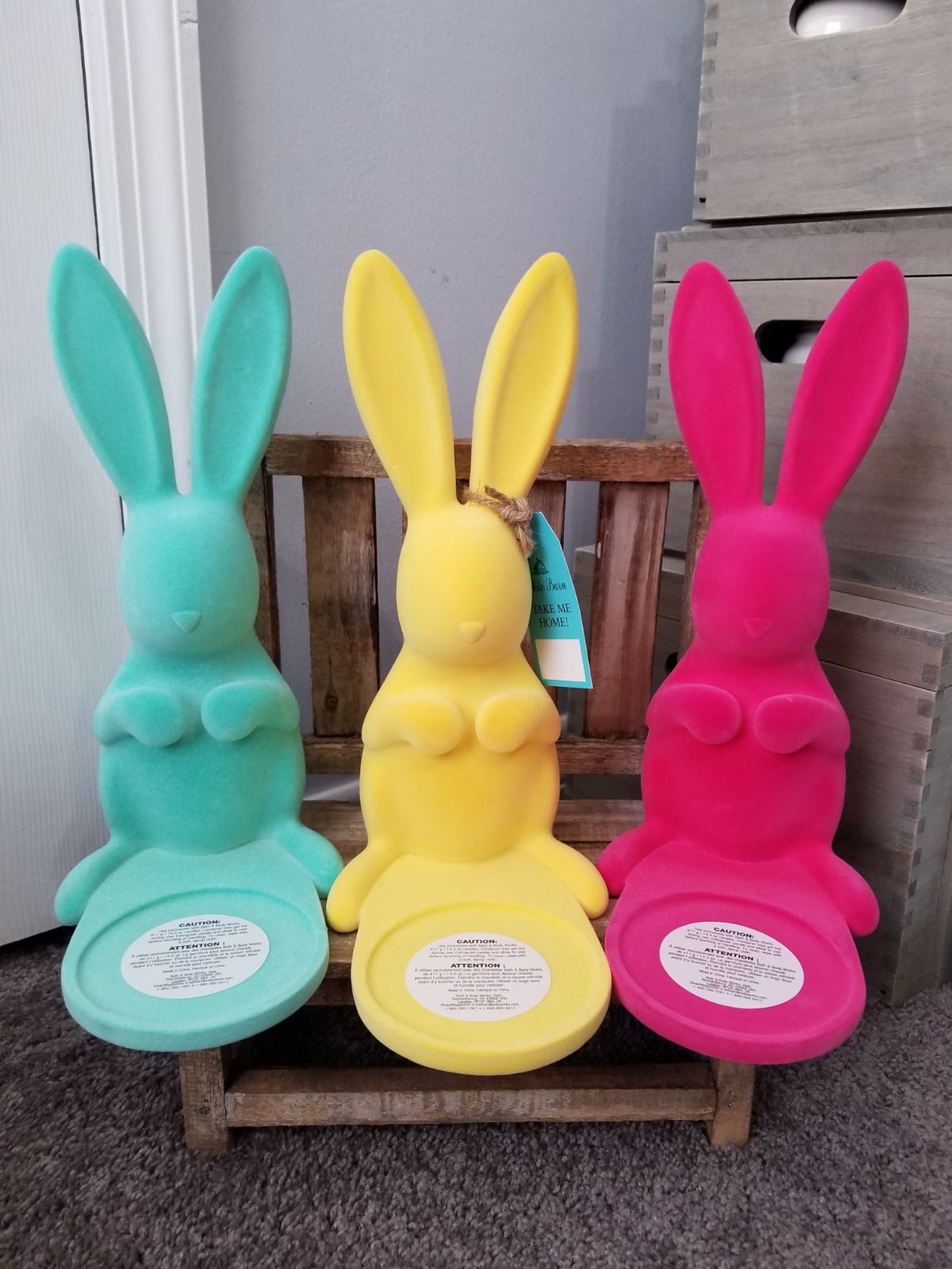 BBW Bunny Candles holders- Set if 3