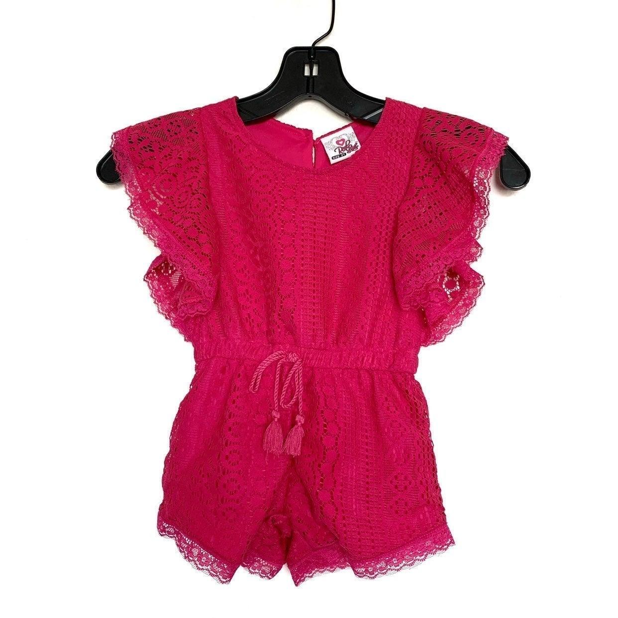 Girls Pink Romper