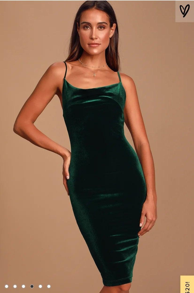 LULUS Jazzy Belle Burgandy Velvet Dress
