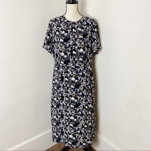 Pendleton Floral Short Sleeve Midi Dress