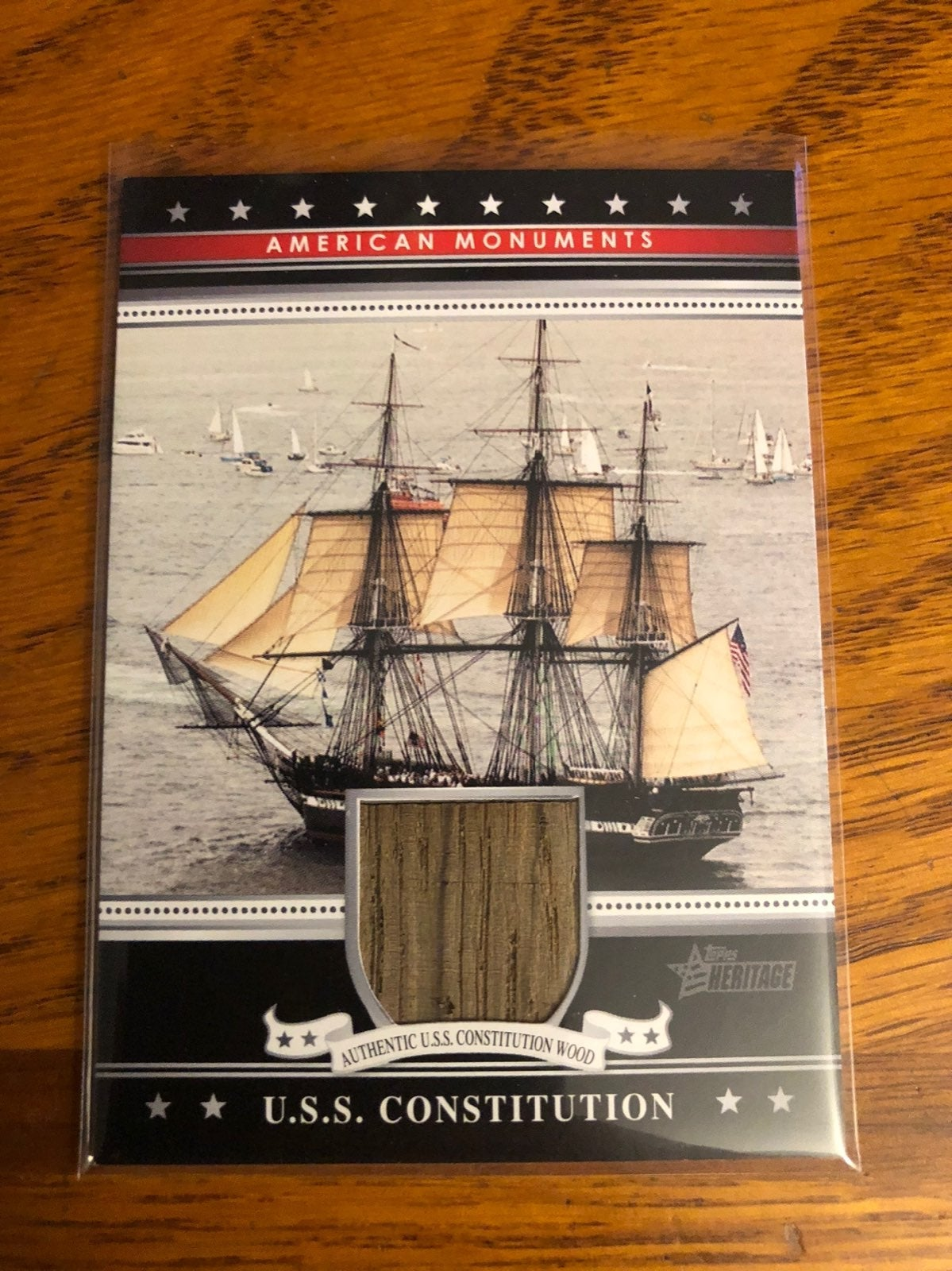 2009 Topps U.S.S. Constitution card