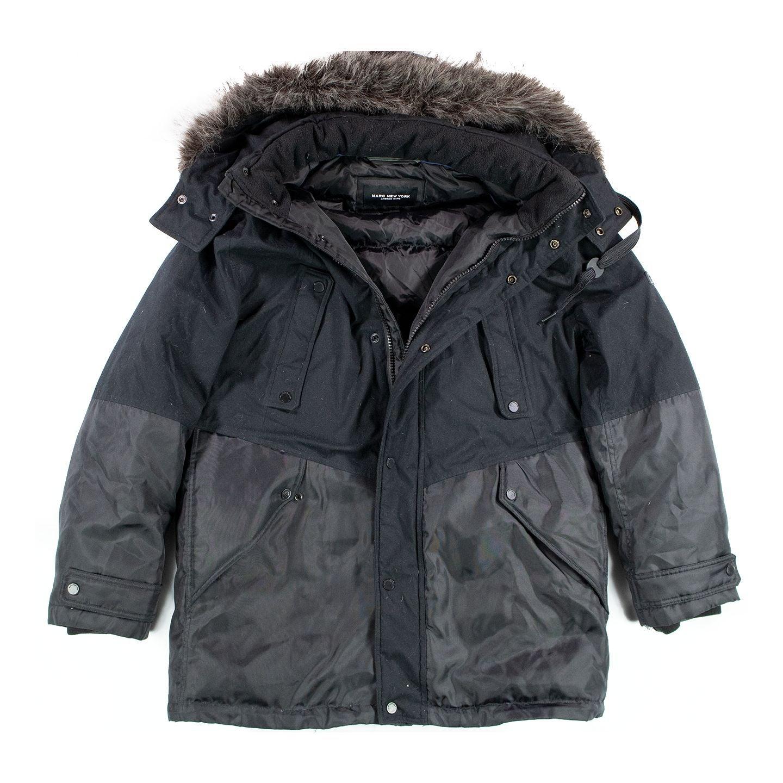 Marc New York Faux Fur Trim Parka L