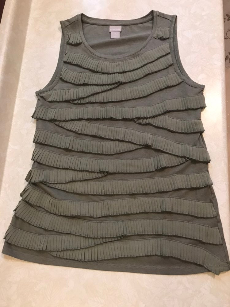 Chico's Pleated Detail Top Size Sm