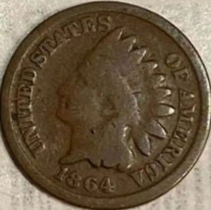 Coins! 1864 Keydate Indian Head Cent!