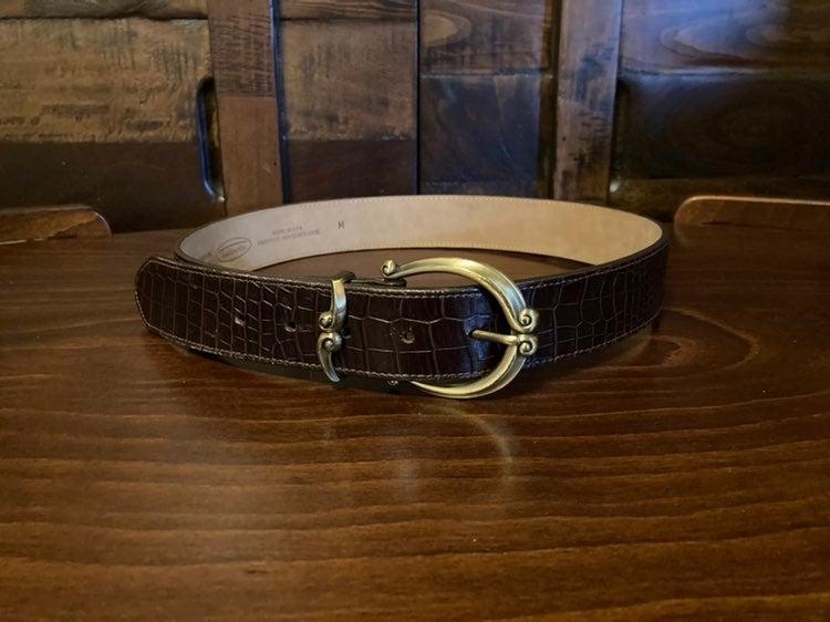 Talbots Embossed Leather Belt