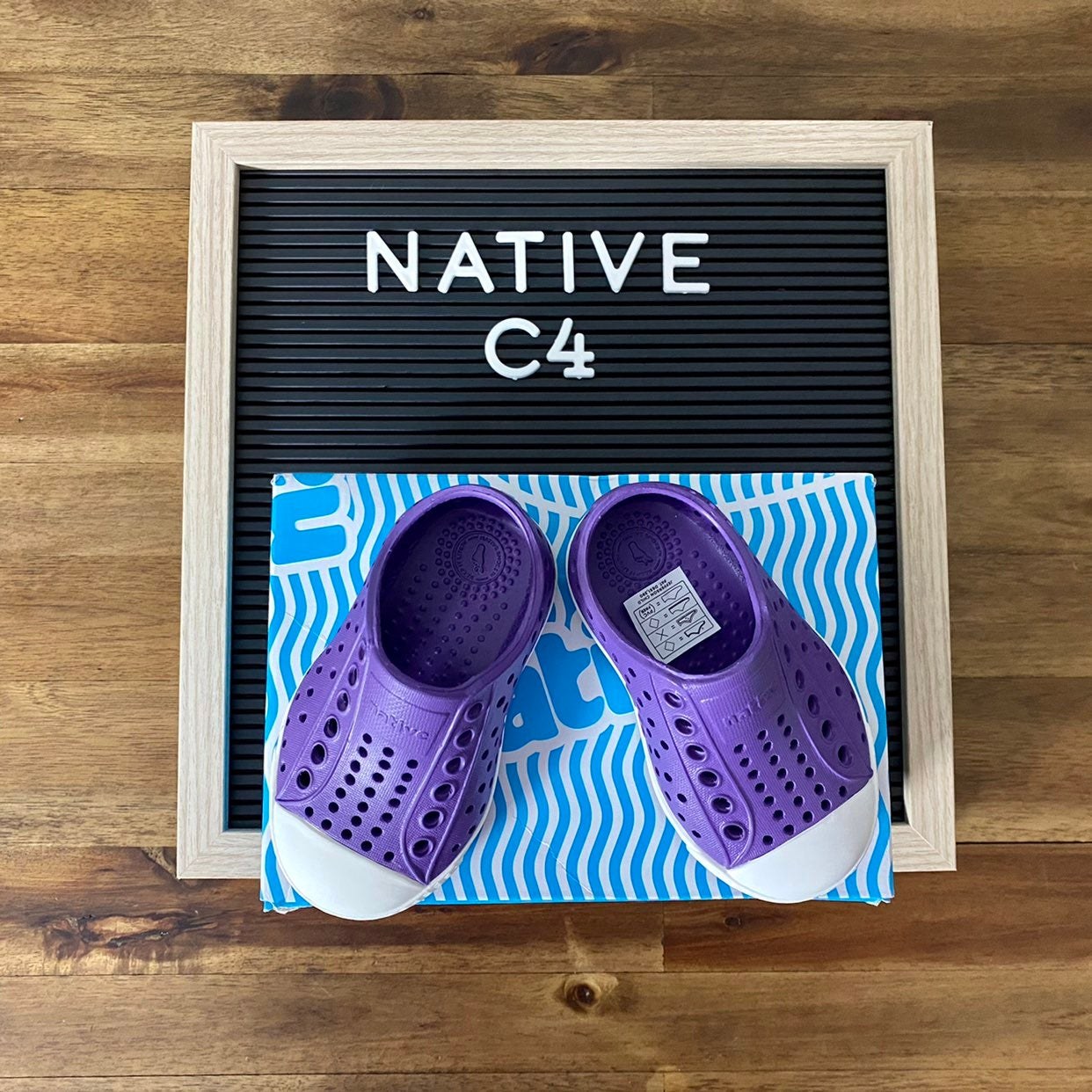 NIB Native Jefferson Purple Shoes C4