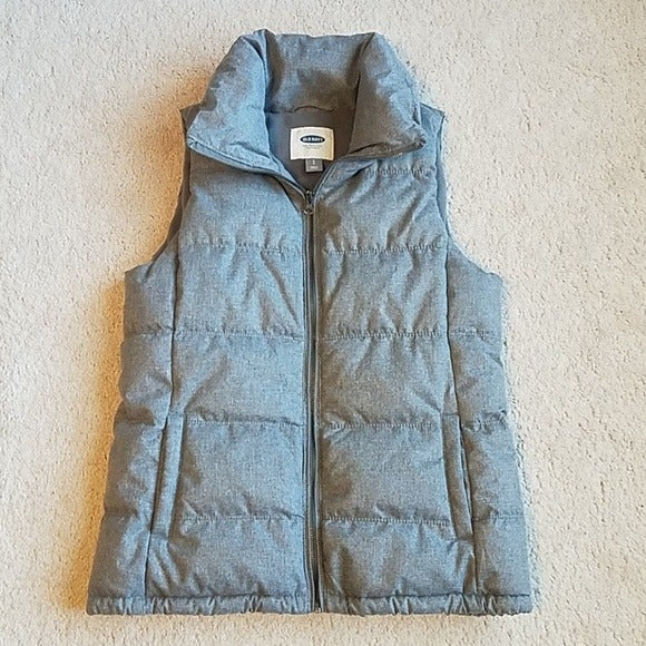 Old Navy gray puffer vest