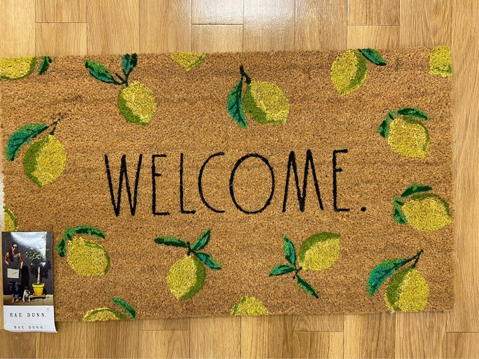 Rae dunn WELCOME large lemon doormat
