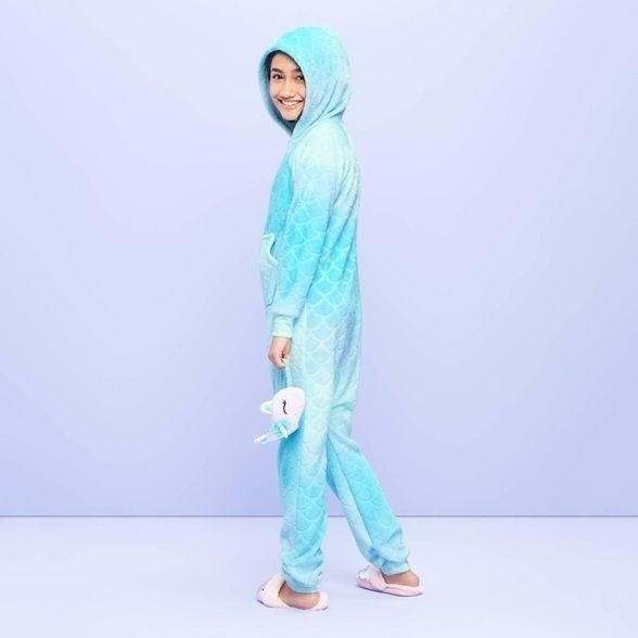 Mermaid Print Onesie Girls Size M